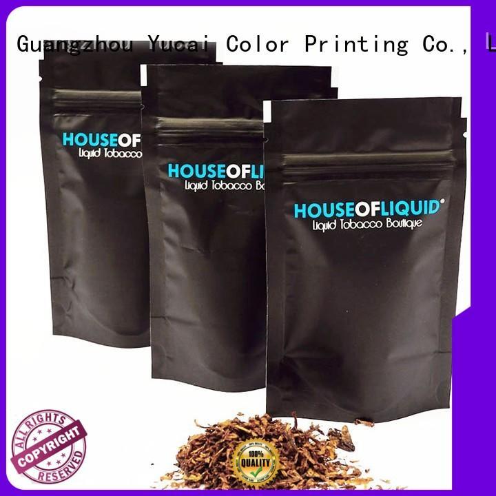 pipe tobacco bags pipe Food grade tobacco Yucai Brand company