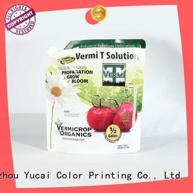 Yucai practical stand up bags series for drinks
