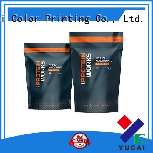 Yucai Brand pouches food Food grade wholesale food packaging printed