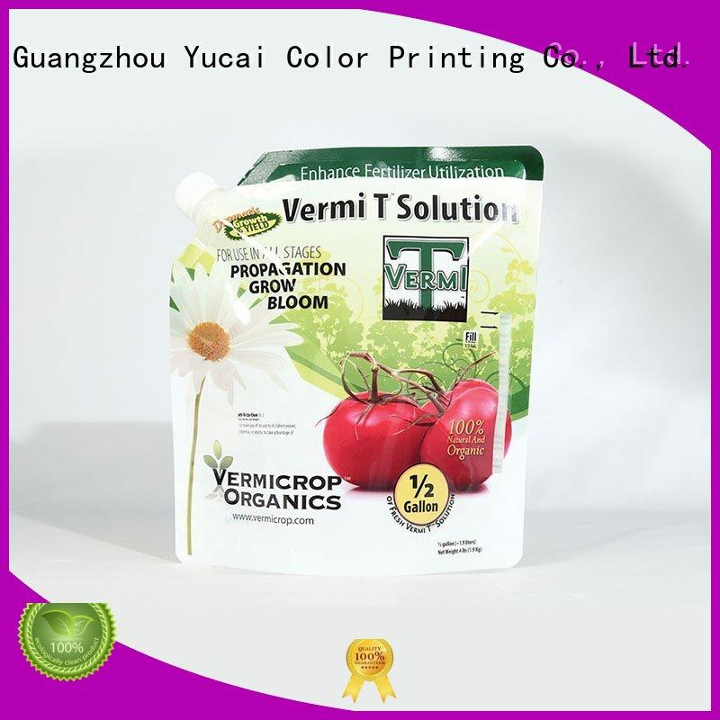 Custom stand up fertilizer fertilizer packaging Yucai Anti-corrosion Grade
