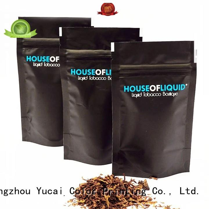 Yucai Brand packaging pipe Food grade bags tobacco pouch