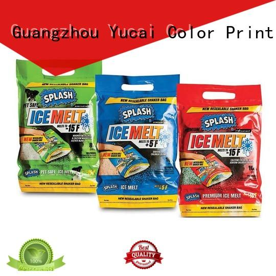 Yucai top quality plastic bag with spout design for industry