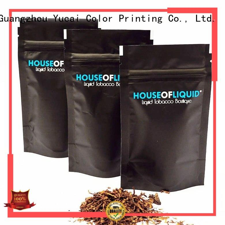 packaging pipe Food grade bags tobacco pouch Yucai