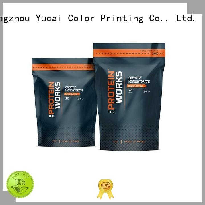 Yucai Brand printed Food grade wholesale food packaging stand supplier