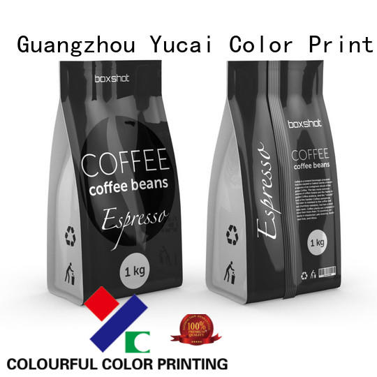 stand Food grade packaging pouches custom printed coffee bags Yucai Brand