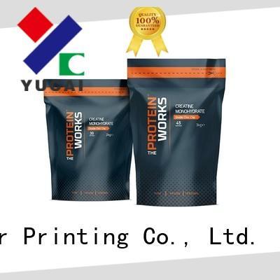 Yucai ziplock food packaging bags design for food