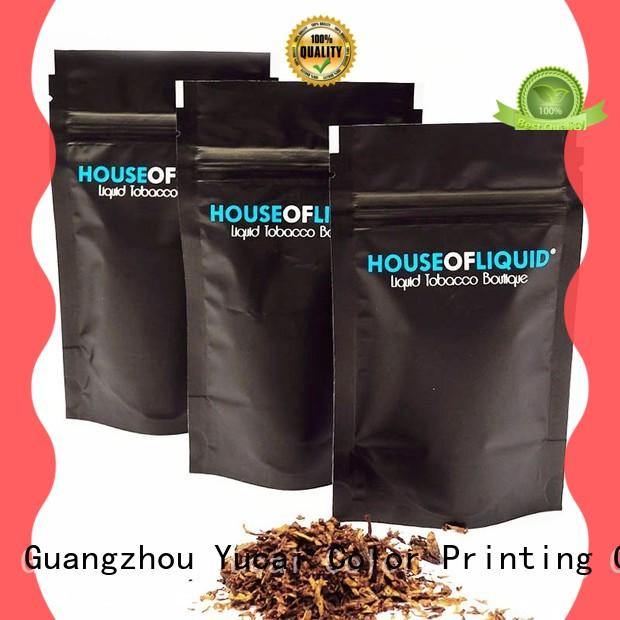 Yucai certificated tobacco pouch supplier for food