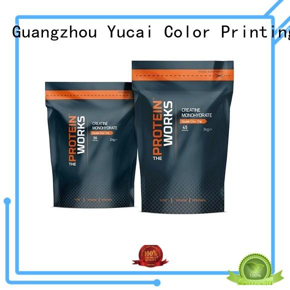 Yucai approved food packaging bags factory for commercial