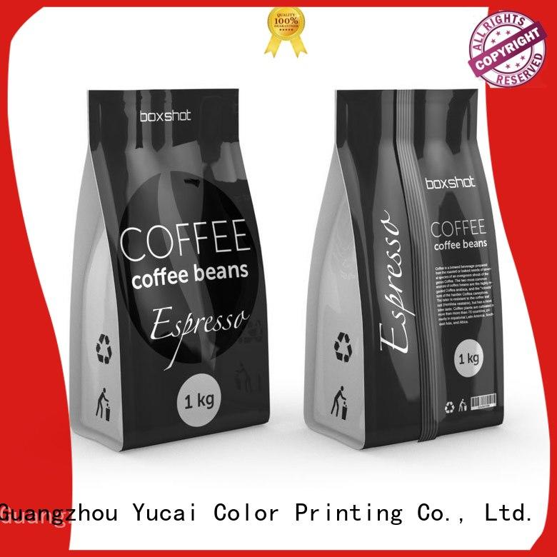 Yucai coffee bags wholesale supplier for food