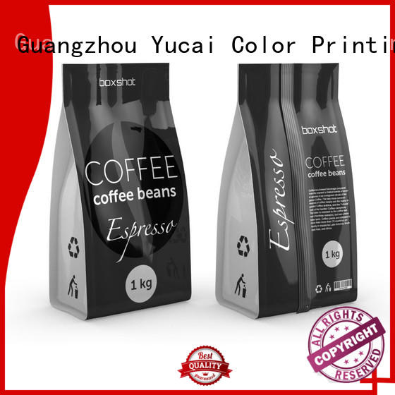 Quality Yucai Brand custom printed coffee bags stand