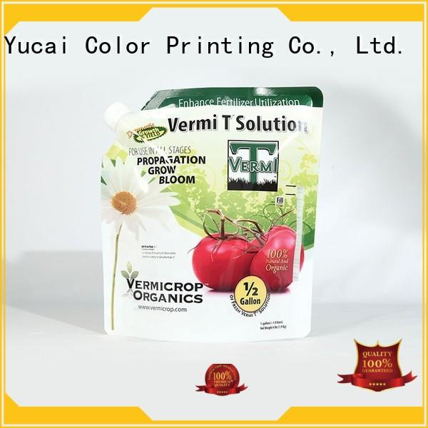 Yucai Brand stand up fertilizer packaging fertilizer packaging