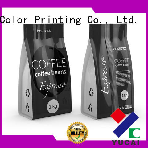 custom printed coffee bags tea stand Yucai Brand tea packaging