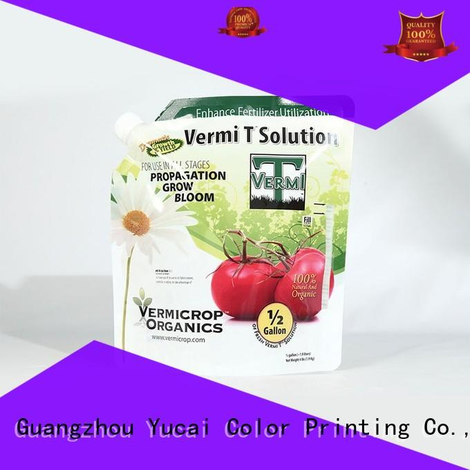 Fertilizer Packaging with Stand Up Bag