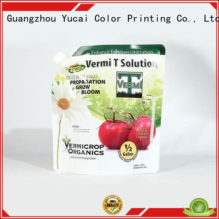 packaging Anti-corrosion Grade fertilizer packaging fertilizer stand up Yucai company