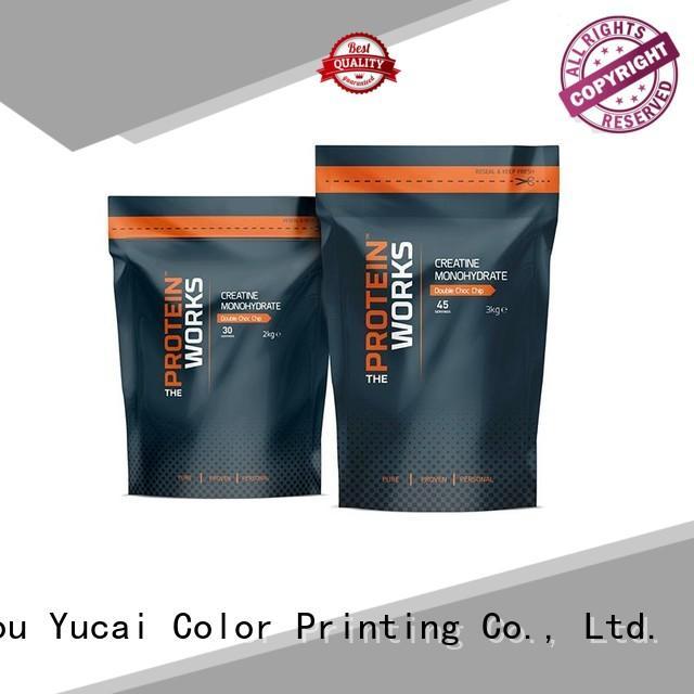 Yucai resistant food packaging bag design for industry