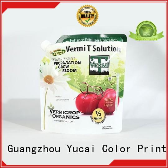 Yucai quality stand up bags manufacturer for drinks