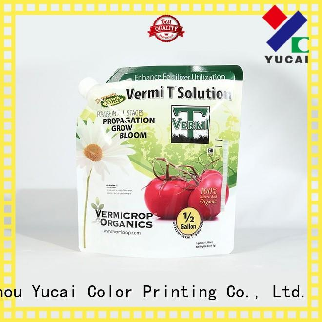 Yucai stand up bags from China for drinks