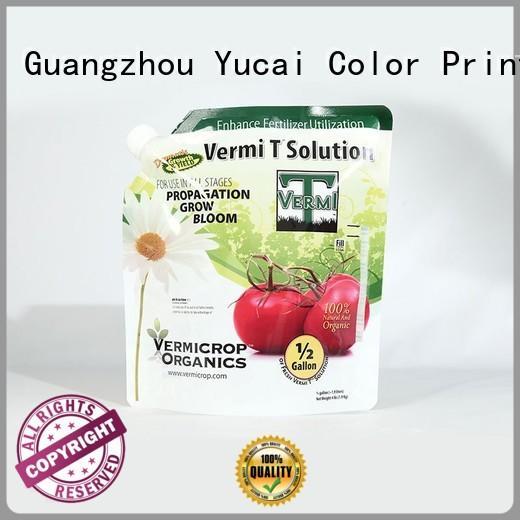 fertilizer packaging stand up fertilizer packaging Yucai Brand