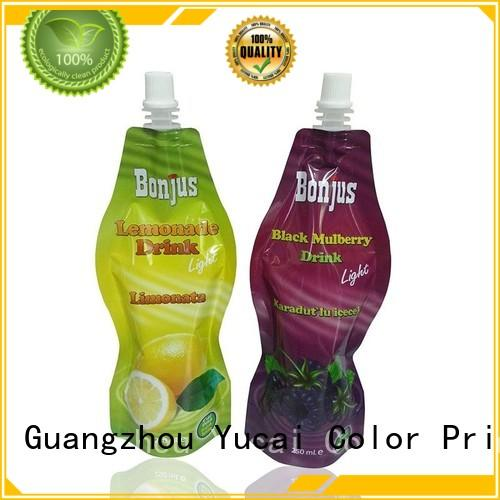 Yucai Brand pouches spouted beverage packaging drink pouches