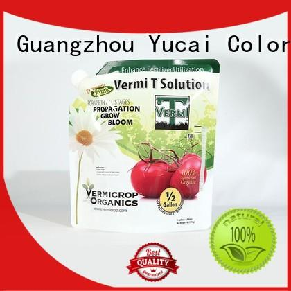 Yucai stand up bags from China for industry