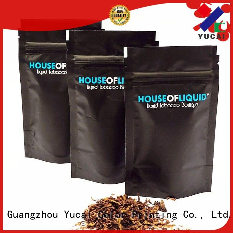 Yucai certificated bag of tobacco factory price for drinks
