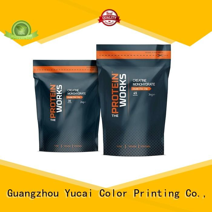 pouches food packaging supplies printed Yucai company