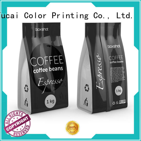 Yucai Brand coffee Food grade spouted tea packaging manufacture