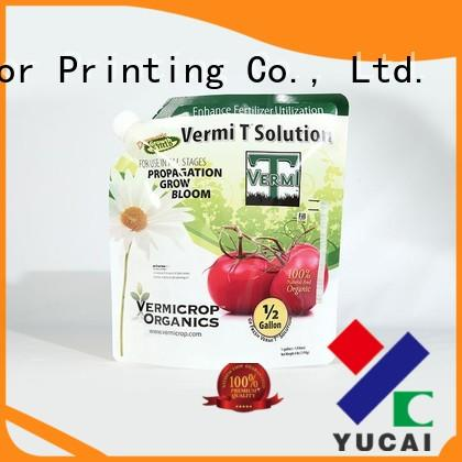 Yucai hot selling stand up bags from China for industry