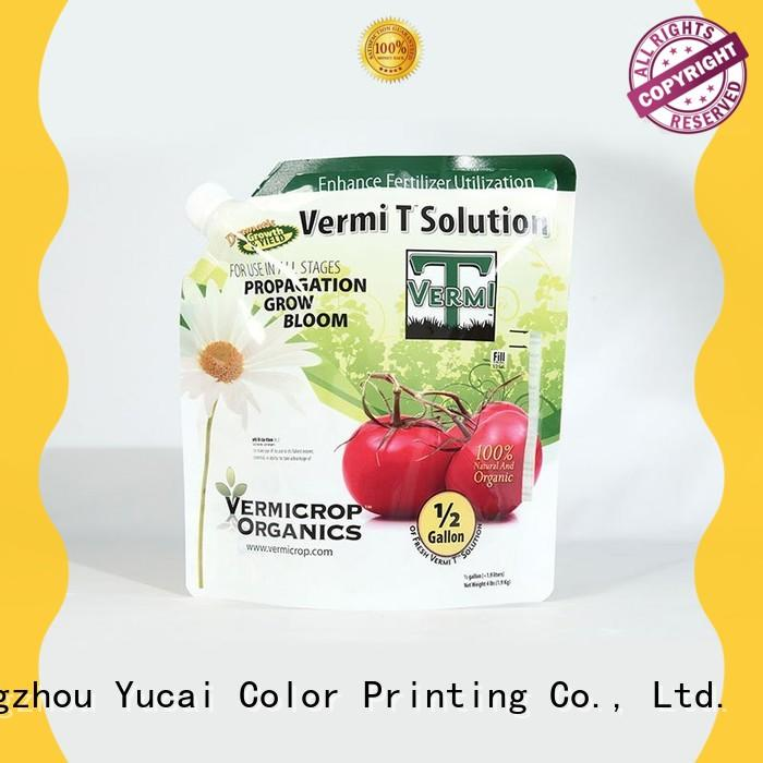 Yucai quality stand up bags directly sale for commercial