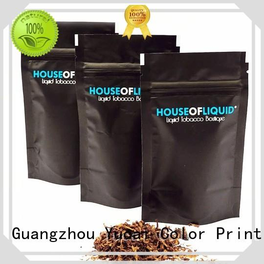 Yucai certificated tobacco pouch factory price for drinks