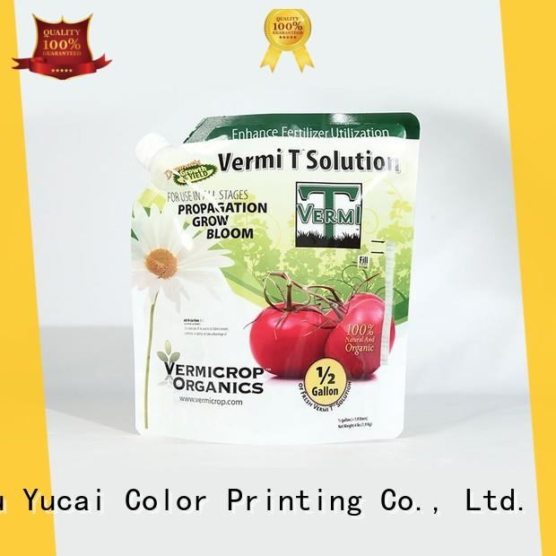 Yucai stand up bags from China for food