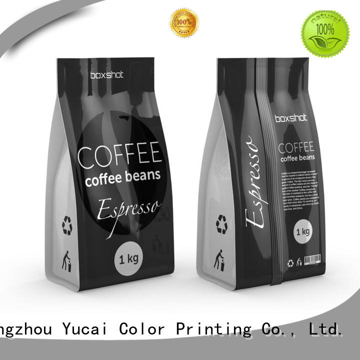 custom printed coffee bags spouted Yucai Brand tea packaging