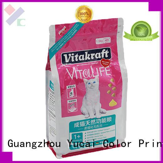 pouches packaging Food grade pet pet food packaging Yucai
