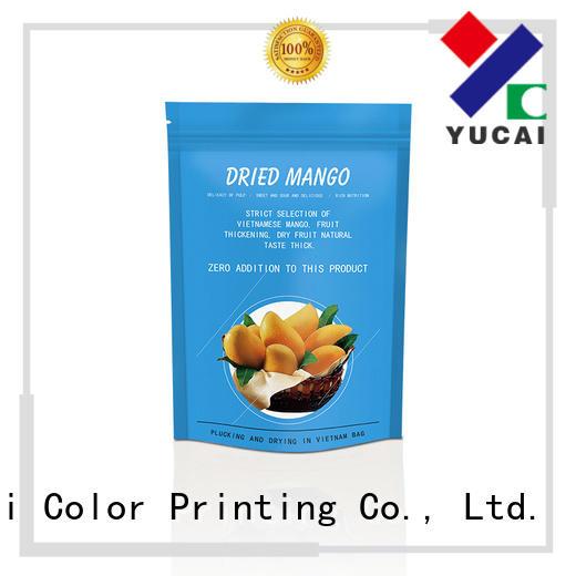 Yucai ziplock food packaging bags factory for drinks
