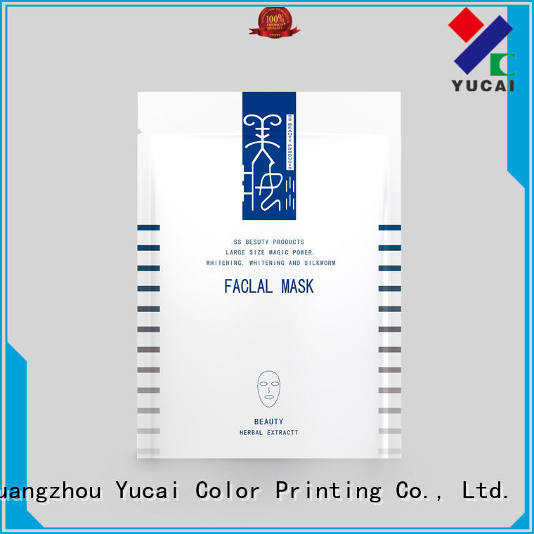 Yucai Brand plastic facial facial mask packaging supplier
