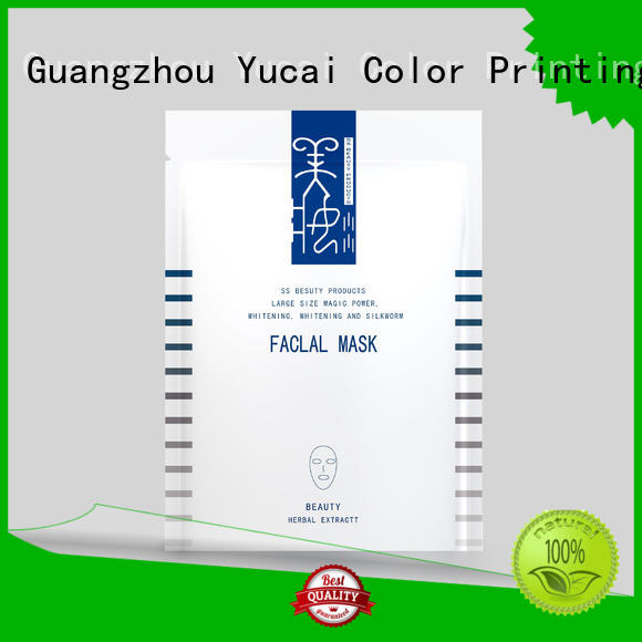packaging plastic mask facial mask packaging supplier Yucai Brand