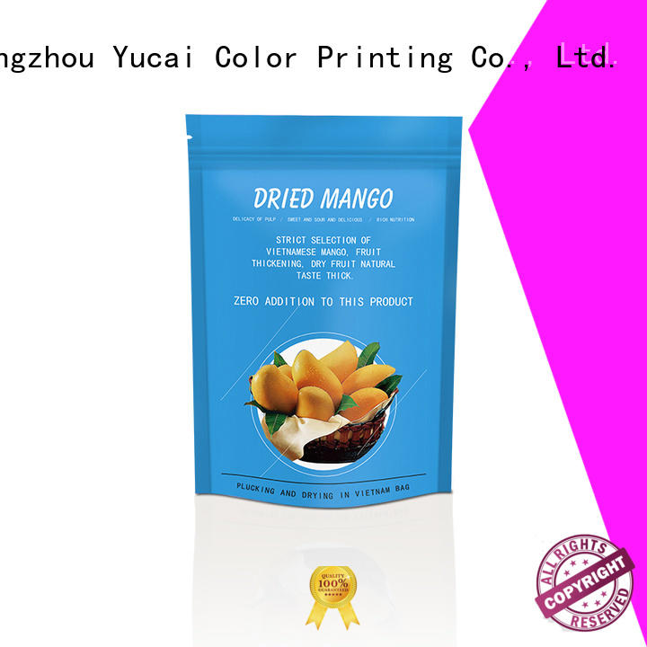 Yucai food packaging bag design for industry