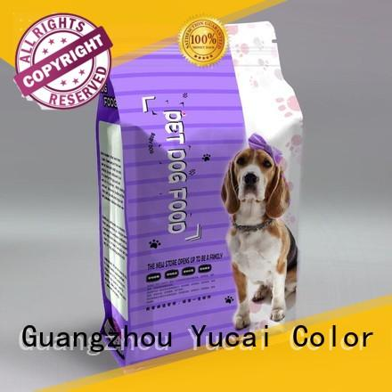 plastic pet food packaging customized for industry