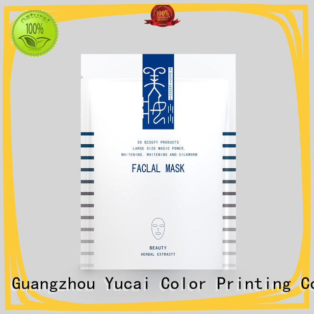 Yucai face mask packaging from China for industry