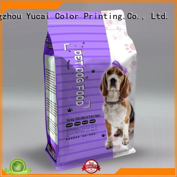Yucai Brand stand pouches pet food packaging packaging factory