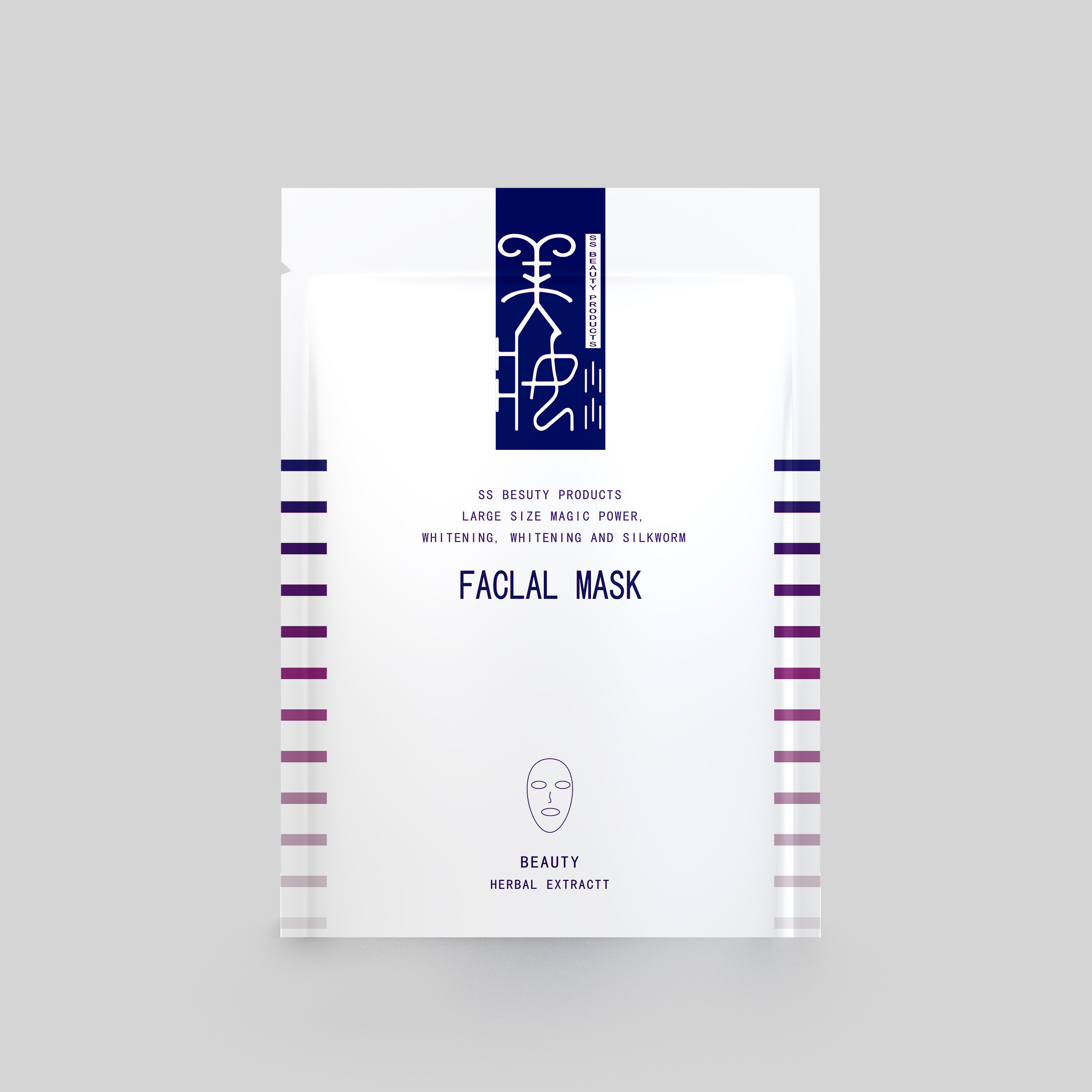 Yucai-Face Mask Packaging Facial Mask Packaging Bag With Plastic Cosmetic Packaging