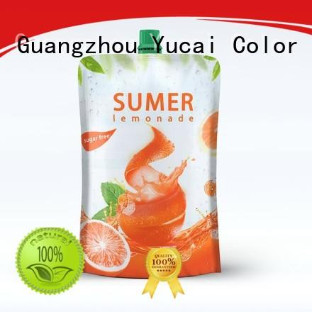 Yucai beverage pouches with good price for industry