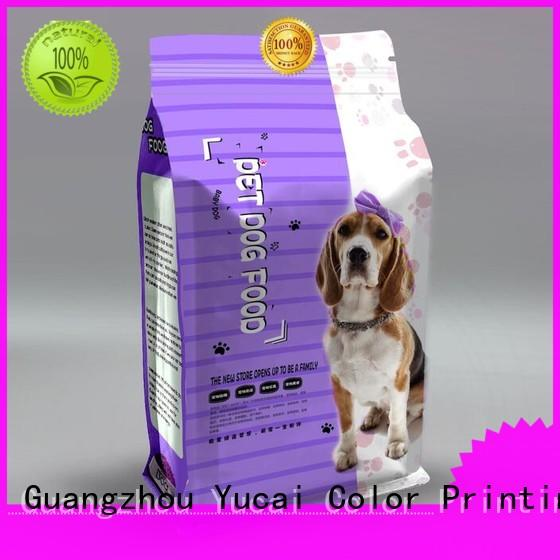 Yucai plastic packing bags customized for food