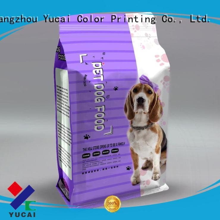 Yucai durable pet food packaging customized for food