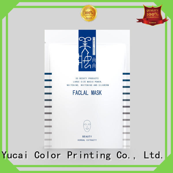 face mask packaging customized for drinks Yucai