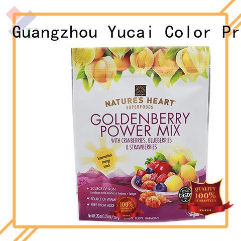 Yucai Brand Food grade food packaging supplies printed factory
