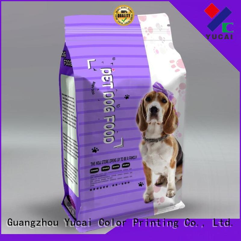 Yucai quality pet food packaging directly sale for commercial