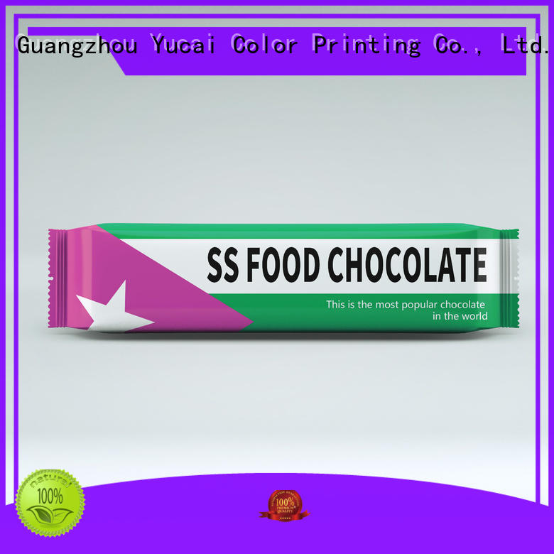 Yucai chocolate packaging supplies from China for industry