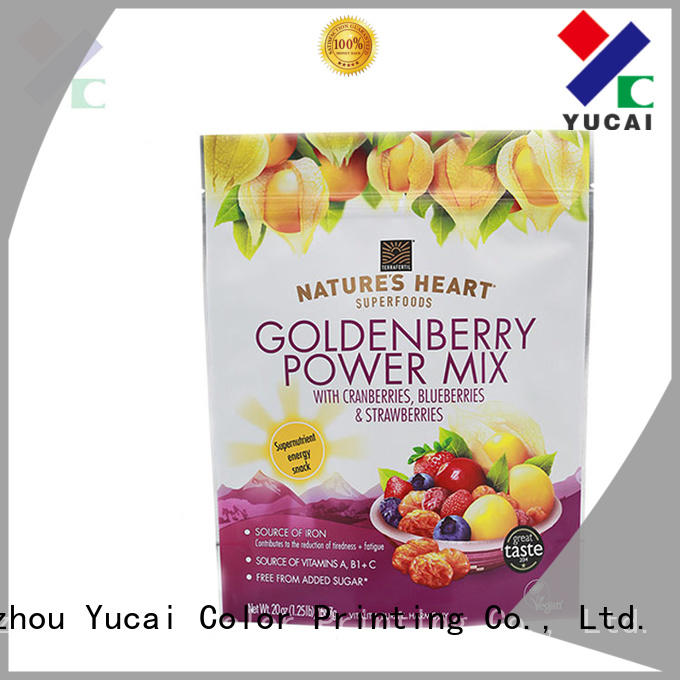 Yucai efficient food packaging bags factory for commercial