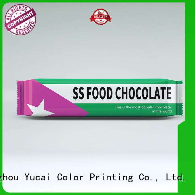 Yucai chocolate packaging customized for food